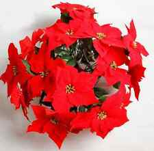 Pretty House Red Poinsettia Christmas Flower Auspicious Festive Home Decorations