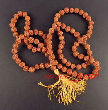 Long Tibetan 108 8mm Rudraksha Bodhi Seed Prayer Beads Mala Necklace bracelet
