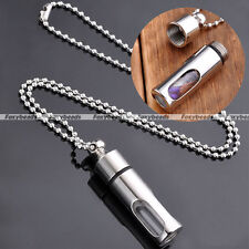 Chic Stainless Steel Acyrlic Open Container Tube Bottle Pendant Chain Necklace