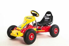Go Kart 4 Wheels Kids Ride on Car Pedal Powered Outdoor Racer, Red