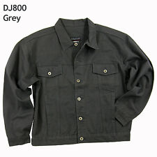 Mens Unlined Denim Jean Jacket (Available in Blue, Grey, or Cream Color) #DJ800