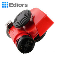 Red 136db Red Boat Auto Car Motorcycle ATV Dual Tone Snail Compact Air Horn Kit