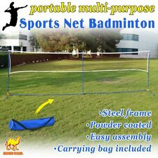 Portable 3-IN-1Training Beach Volleyball Badminton Tennis Net Set With Carrying