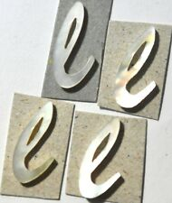 LE-LWL# 5 Lowercase L in White Mother of Pearl 7.9mm x 14.7mm x 1.5mm thickness