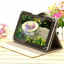 "iRULU 9"" Android 4.4 8GB Tablet PC Capacitive Quad Core WiFi Cams w/White Case"