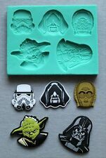 Silicone Mould Star Wars Faces Cake Decorating Fondant / fimo mold