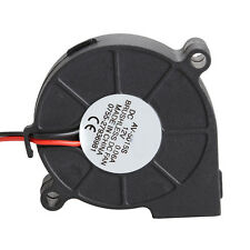 1pc Micro Brushless DC Cooling Blower Fan 2 Wires 5015S 12V 0.06A 50x15mm Black