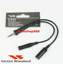 Yaesu CT-91 two pin microphone adapter CT91 VX-7R VX-6 FT-270 FT-277