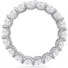 6.76 ct Round DIAMOND ETERNITY U shape Band 14K White Gold, 15 x 0.45 ct size 6
