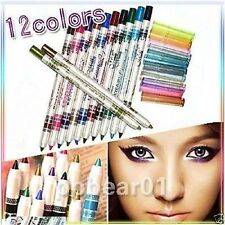 IMPORTED 12 Colors Cosmetic Glitter Eye Shadow Lip Liner Eyeliner Pencil Pen