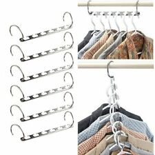 New Ipow Metal Wonder Magic Clothes Closet Hangers Clothing Organizer 6 Pack Kit