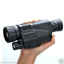 Tactical 5X Night Vision Scope for Hunting Takeing Photos Video with TFT LCD
