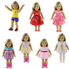 7sets Christmas Gifts Doll Clothes Accessories For 18'' American Girl doll b802