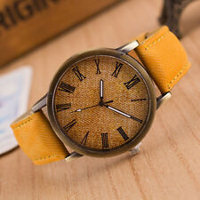 Fashion Men Women Watches Retro Cowboy Leather Band Analog Quartz Wrist Watches