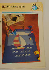Knitting Pattern Phildar Pegase - Child's Boat Picture Rug - 70cm x 85cm