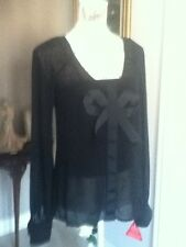 BNWT 2 piece Black designer blouse/camisol, size 8 by Holly Willoughby