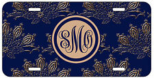 Personalized Monogrammed Royal Romance Floral License Plate Custom Car Tag L235