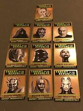 2015 Topps Star Wars Chrome  Republic Sp Set 1-10 Force Jedi Perspective