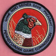 "Pa Pennsylvania Game Commission 4"" 2009 Ringneck Pheasant Game Bird Series Patch"