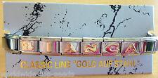 Armband mit Name BIANCA  für NOMINATION CLASSIC LINE EDELSTAHL GOLD