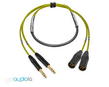 Premium 2 Channel Mogami 2930 Snake | Neutrik Gold TRS to XLR Male | Yellow 4'