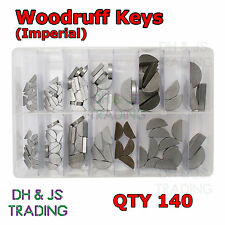 Assorted Box of Woodruff Keys - Imperial Qty 140 Key Set