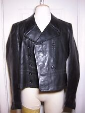 WW2  German Elite Panzer crew  -black-leather jacket -sz-38 Med