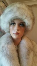Vintage Genuine Canadian Shadow Fox Fur Hat Cossak 4 Coat Jacket Dr Zhivargo EUC