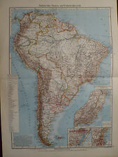 Landkarte Südamerika, Staaten- und Verkehrsübersicht, Carl Wagner, 1941