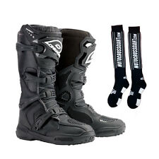 Oneal 2017 Element Offroad Motocross Boots Mens Black Size US 10 and MX Sox 0322