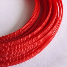 Sleeving Cable 5 Meters X 8MM Red Tube PET Expandable Braided Heat Shrink Tubing