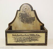 Knickerbocker Mills Vintage Antique Coffee Letter Mail Holder rustic home decor