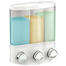 EURO CROYDEX Trio SOAP SHOWER GEL SHAMPOO BATHROOM PUSH DISPENSER WALL MOUNTED