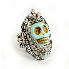 Turquoise SKULL QUEEN Ring SWEET ROMANCE Ollipop Ring SKULL Day of the DEAD -