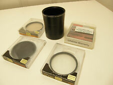Olympus CLA-10 Lens Adapter w/3 Hoya Filters & 1 Sunpack filter