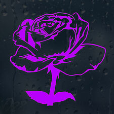Lovely Purple Flower Rose Car Decal Vinyl Sticker For Window Bumper