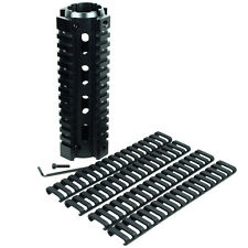 Quad Rail Handguard 6.7 Inch 2 Piece Drop-In Picatinny Mounting Rail+Ladder Rail