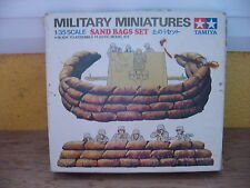 MAQUETTE 1/35 TAMIYA SAND BAGS  WWII MILITAIRE