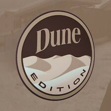 "Custom Badge Emblem Pair ""DUNE EDITION""  Decal Sticker Jeep Sahara Baja Buggy"