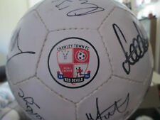 Crawley Town 2012-2013 Squad Signed Football with FLT Charity Letter