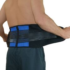 Compression Double Pull Lumbar Support Low-Waist Back Belt Brace Pain Relief E08