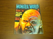 MONSTER WORLD #8 Warren magazine 1966 HORROR MOVIES FAMOUS MONSTERS