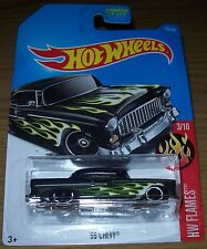 2017 HOT WHEELS - '55 CHEVY - HW FLAMES - NEW