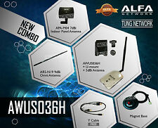 COMBO Alfa AWUS036H Usb Wifi Adaptor Wi-Fi DEAL 3 antennas MORE!