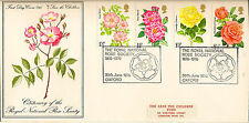 GB :1976- ROSES illustrated FDC-NATIONAL ROSE SOCIETY OXFORD special cancel