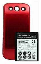 New 4800mah Extended Battery + RED door cover for Samsung Galaxy s3 i9300 T999