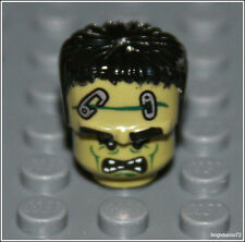 Lego Halloween x1 Green Frankenstein Head Dead Monster Zombie Minifigure NEW