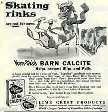 1959 Print Ad of Lime Crest Products Barn Calcite skating rinks are not for cows