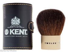 Kent Twelve Kabuki Natural Bristle POWDER / BRONZER Travel BRUSH With Pouch (12)