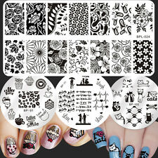4Pcs/Set Born Pretty Nail Art Stamp Image Plates Cake Animal Design Templates